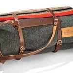 Pendleton wool camping blanket with carrier