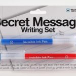Secret Message Invisible Ink and Blacklight Pens