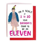 Stranger Things Eleven Funny Birthday Card