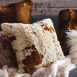 faux cowhide throw pillow