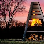 Vertical Outdoor Fire Pit