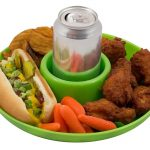one handed plate with cup holder