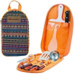 camping cooking set and carrier
