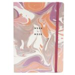 marbled design weekly planner
