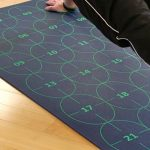 numbered yoga mat for learning yoga positions