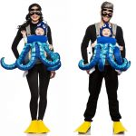 scuba diver and octopus parent and baby halloween costume