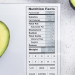 food prep scale with nutritional facts display